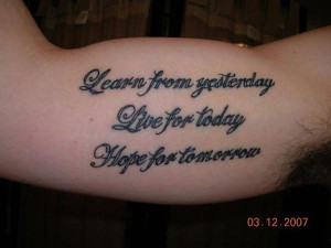 Inner Bicep Tattoo Quote By slodive.com