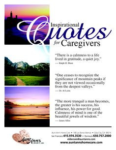 Inspirational Quotes for Caregivers #quotes #caregiving More