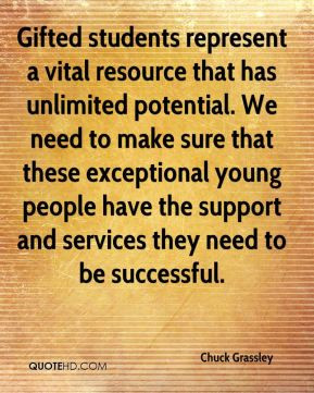 ... exceptional young people have the support and services they need to be