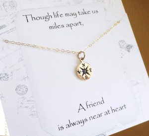 Friendship necklace best friends gift bridesmaid by BriguysGirls, $28 ...