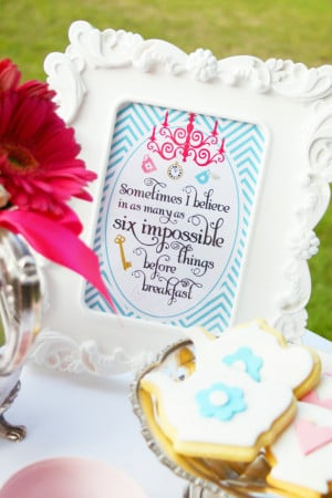 ALICE in Wonderland Quote Signs for Party Table - Two signs ...