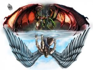Devil Angel Girls Tattoo