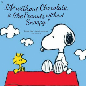 Life without Chocolate, is like Peanuts without Snoopy.