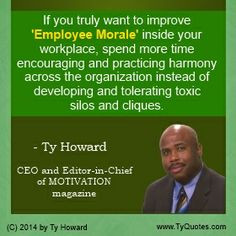 Employee Morale Quotes. Workplace Morale Quotes. Improving Workplace ...