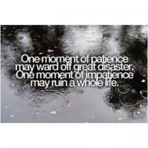 Patience vs Impatience