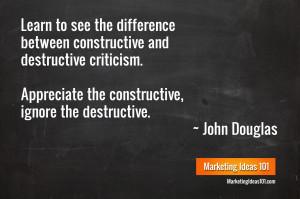 Constructive Criticism Douglas criticism quote