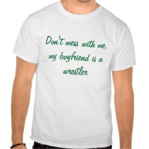 Boyfriend Wrestler Tee Shirt