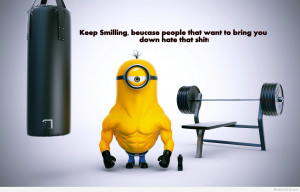 Funny strong minion hd wallpaper 2015