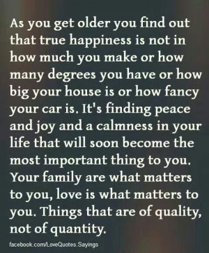 Peace, joy, family, love