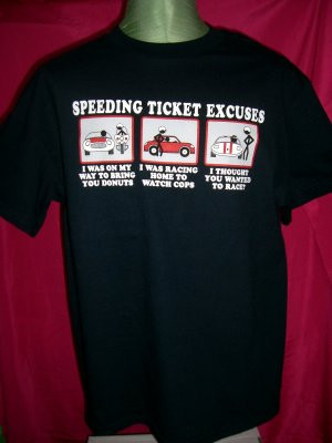 Funny Speeding Ticket Excuses