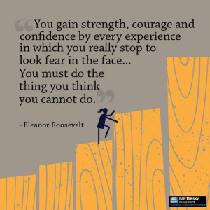 Strength, Courage and Confidence. by: Eleanor Roosevelt #quote # ...