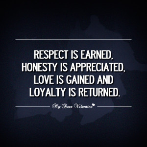... wisdom honest actions best quote honesty sincerity respect is earned