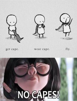 no capes edna mode incredibles funny