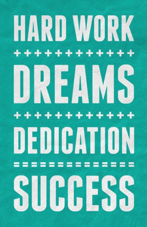 ... quotes to motivate. Hard Work + Dreams + Dedication = Success