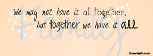 Family Quote Facebook Cover