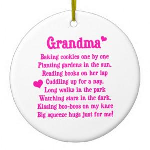 Grandma's Poem Christmas Ornament