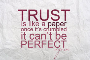 Life Quotes - Sayings - Messages - Words - Thoughts - Trust is like ...