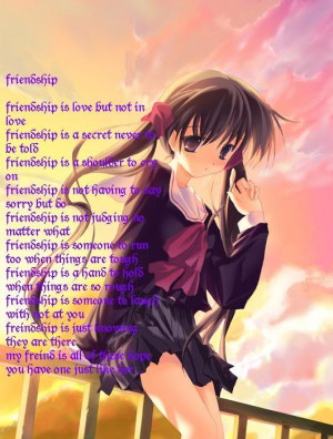 Beautiful poems with anime pictures for share facebook