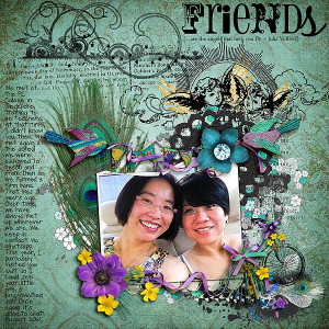 Friends by Audrey Tan | Supplies: Rosey Posey: Faith, Be Bold, Amazing ...