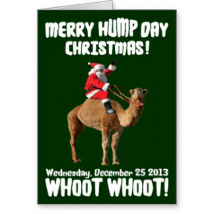 Merry Hump Day Christmas 2013 Santa & Camel Cards