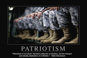 Patriotism is not short, frenzied outbursts of emotion, but the ...