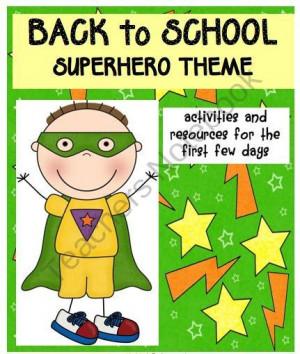 Superhero die cut : Teachers Notebook
