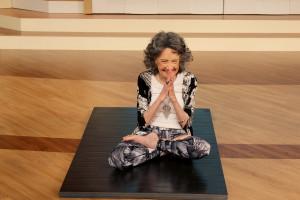 96-year-old yoga master Tao Porchon-Lynch on the Steve Harvey Show ...