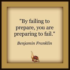 """... Prior Planning and Preparation Prevents Poor Performance."""" More"""