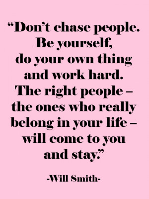 The Right People Will Come To You!