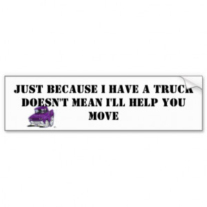 Chevy Truck Quotes And Sayings Truck bumper sticker