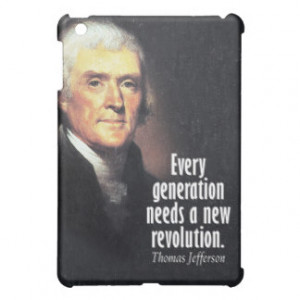 Thomas Jefferson Quote on Revolution iPad Mini Case