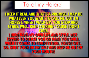 To All My Haters