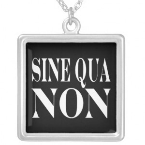 Sine Qua Non Famous Latin Quote: Words to live By Pendants