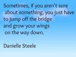 Danielle Steel Growing Wings quote