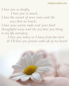 love you so deeply...poem for wedding album More