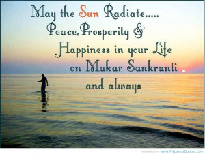 Happy Love Quotes That May The Sun Radiate Peace Prosperity And ...