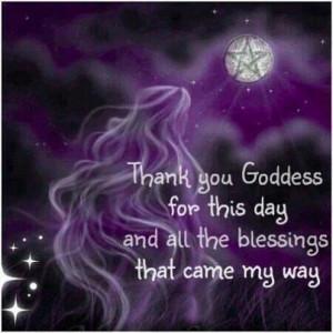 Goddess blessings