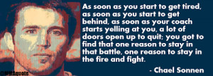 Chael Sonnen quote on finding that one reason to fight
