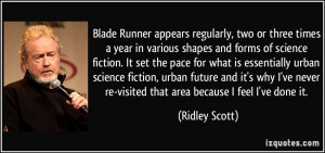 science fiction. It set the pace for what is essentially urban science ...