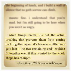 ... is is that David wrote this not John Green but i still love it anyways