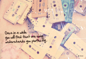 cassette, love, music, one song, quote, quotes, song, text, that one ...