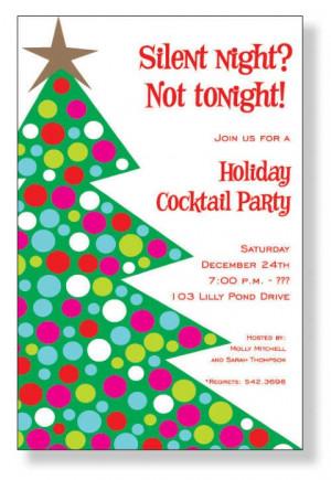 Homemade Christmas Party Invitations