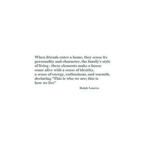 Ralph Lauren Home Quote