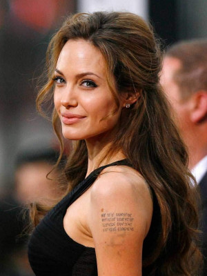 """Jolie-Pitt Kids are """"Obsessed"""" With Angelina's Tattoos"""