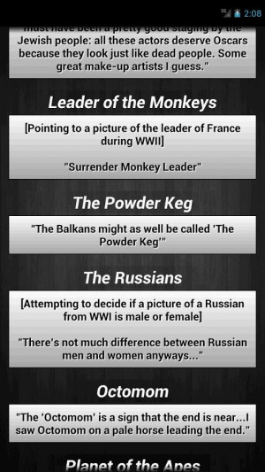 Funny History Quotes - screenshot