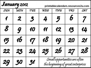 ... for Calendars and Blank Calendars Planners : for 2012 Calendars