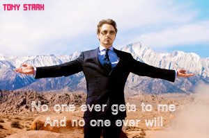Tony Stark + Moriarty's Quote