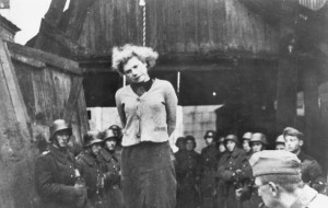 Minsk, Belorussia, The hanging of the Jewish partisan Masha Broskina ...