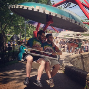 Two friends having fun on the paratrooper ride at #kennywood @fcpgh # ...
