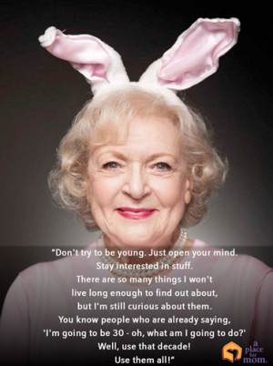 Quote: Don't Try To Be Young by Caitlin Burm